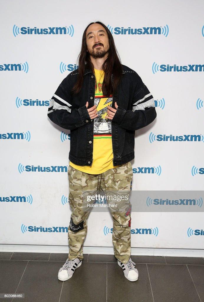 Steve Aoki visits at SiriusXM Studios on June 27, 2017 in New York City.