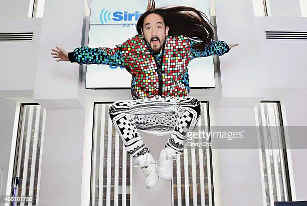 DJ Steve Aoki visits the SiriusXM Studios on March 13 2015 in New York City