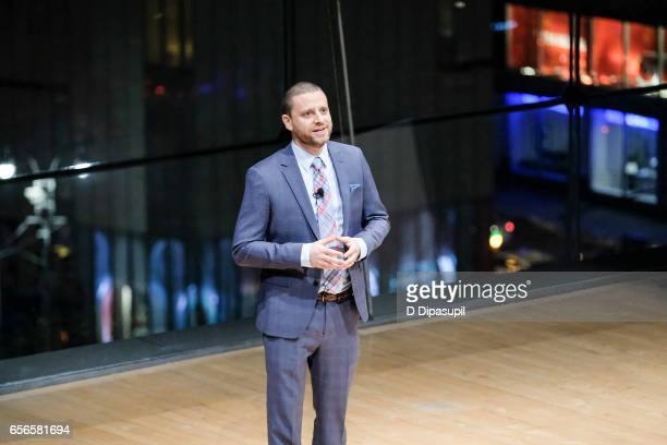 Steve Asher speaks at the 2017 AE Networks Upfront At Jazz At Lincoln Center's Frederick P Rose Hall on March 21 2017 in New York City