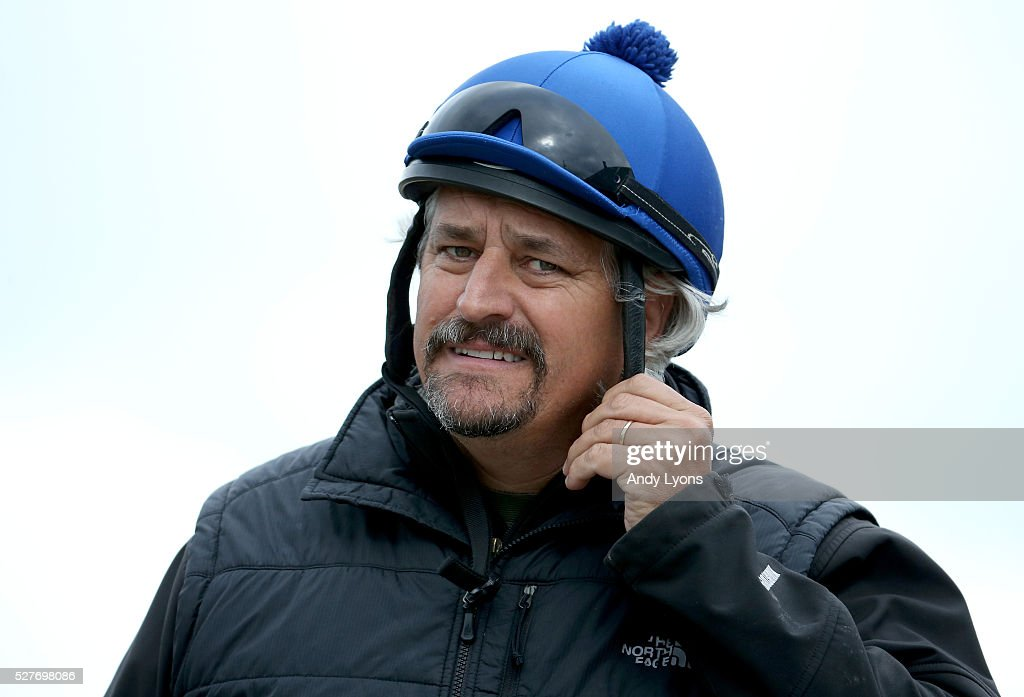 Steve Asmussen the trainer of Gun Runner and Creator heads to the track during the morning training for the 2016 Kentucky Derby at Churchill Downs on May 03, 2016 in Louisville, Kentucky.