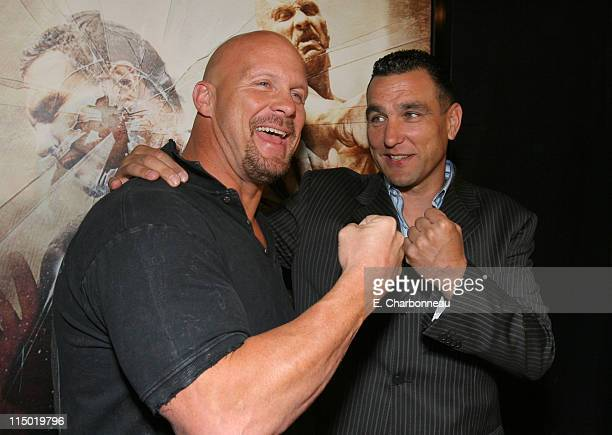Steve Austin and Vinnie Jones during Lionsgate Special Cast and Crew Screening of 'The Condemned' at Arclight Cinemas in Los Angeles California...