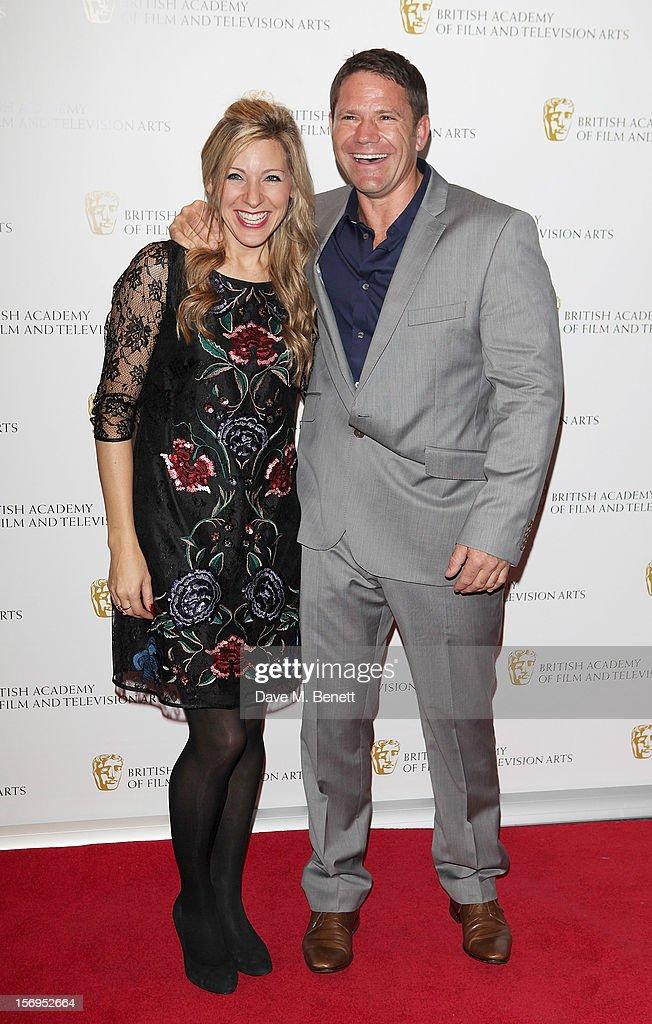Steve Backshall (R) arrives at the British Academy Children's Awards at the London Hilton on November 25, 2012 in London, England.