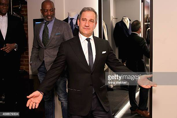 Steve Baktidy attends DuJour magazine's premier opening event Tincati Milano Concept Store on November 11 2014 in New York City