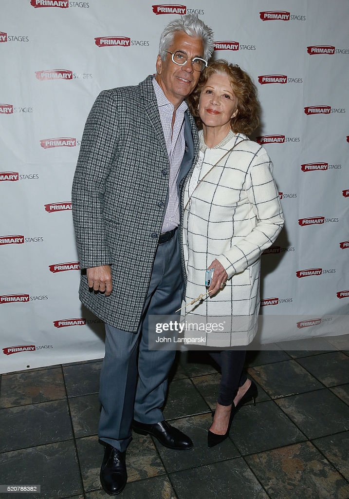 Steve Bakunas and <a gi-track='captionPersonalityLinkClicked' href=/galleries/search?phrase=Linda+Lavin&family=editorial&specificpeople=645189 ng-click='$event.stopPropagation()'>Linda Lavin</a> attend 'Exit Strategy' opening night party at Mr. Dennehy's on April 12, 2016 in New York Cit