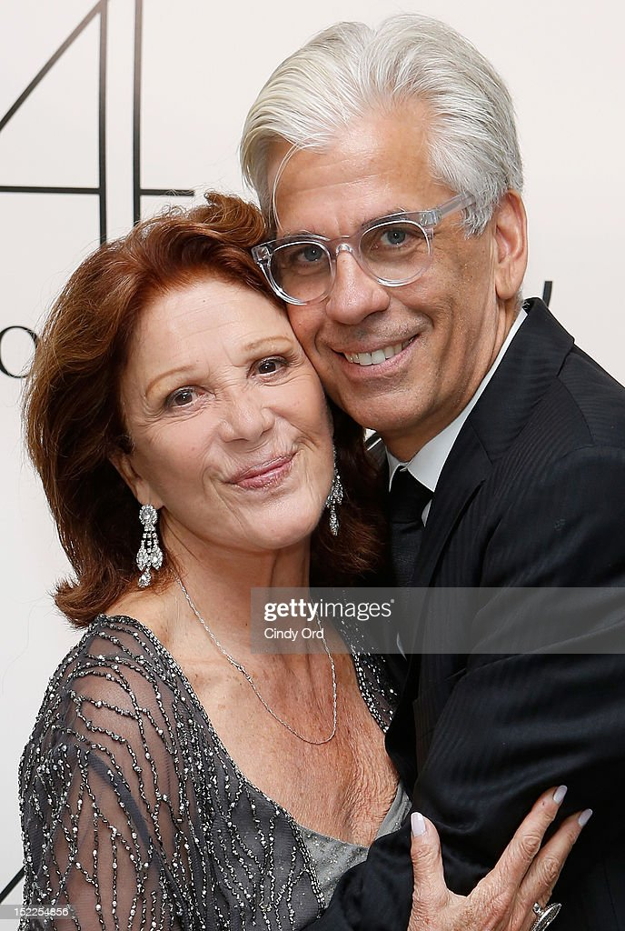 Steve Bakunas and <a gi-track='captionPersonalityLinkClicked' href=/galleries/search?phrase=Linda+Lavin&family=editorial&specificpeople=645189 ng-click='$event.stopPropagation()'>Linda Lavin</a> pose backstage following their performance at 54 Below on September 17, 2012 in New York City.