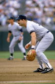 Steve Balboni of the New York Yankees readies for a play during a 1989 season game Steve Balboni played for the New York Yankees from 19811983 and...