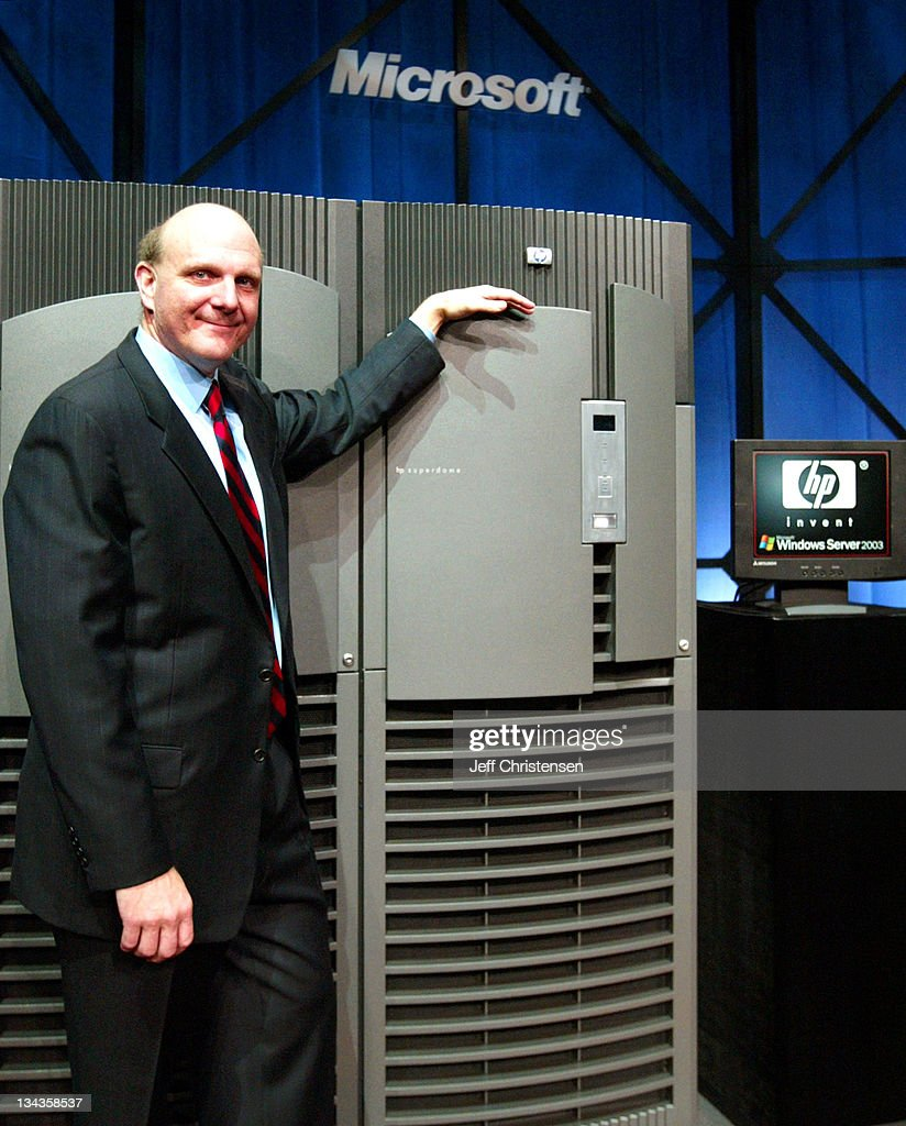 Steve Ballmer, CEO of Microsoft, Announces the Launch of Windows Server 2003