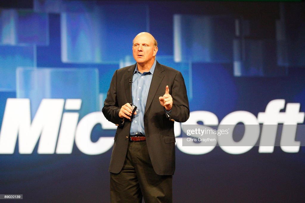 <a gi-track='captionPersonalityLinkClicked' href=/galleries/search?phrase=Steve+Ballmer&family=editorial&specificpeople=211258 ng-click='$event.stopPropagation()'>Steve Ballmer</a>, Chief Executive Officer of Microsoft Corporation addresses the Microsoft Worldwide Partner Conference on July 14, 2009 at the Morial Convention Center in New Orleans, Louisiana.
