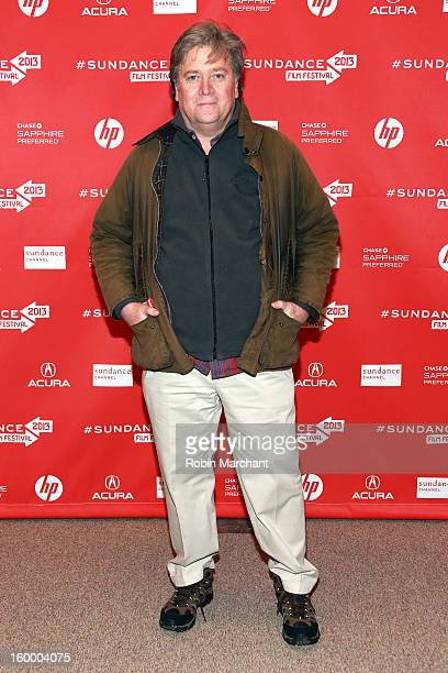 Steve Bannon attends the 'Sweetwater' Premiere during the 2013 Sundance Film Festival at Eccles Center Theatre on January 24 2013 in Park City Utah
