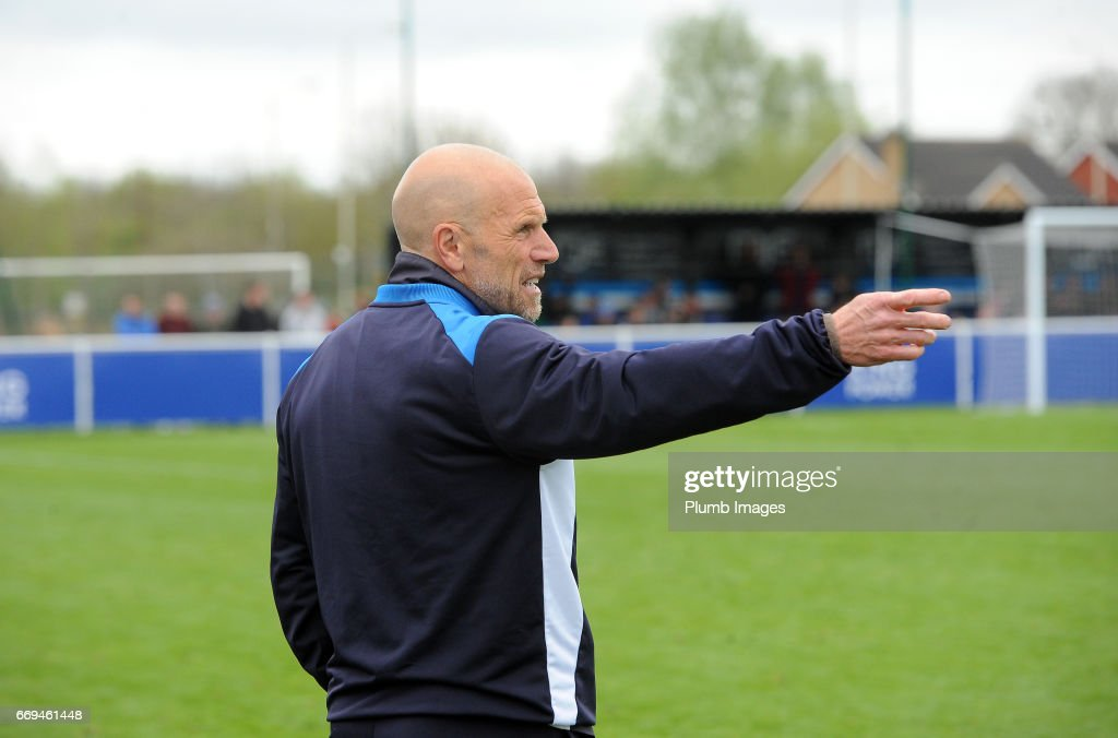 Steve Beaglehole of Leicester City during the game between Leicester City and Liverpool: Premier League 2 match at Holmes Park on April 17 2017 in Leicester, United Kingdom