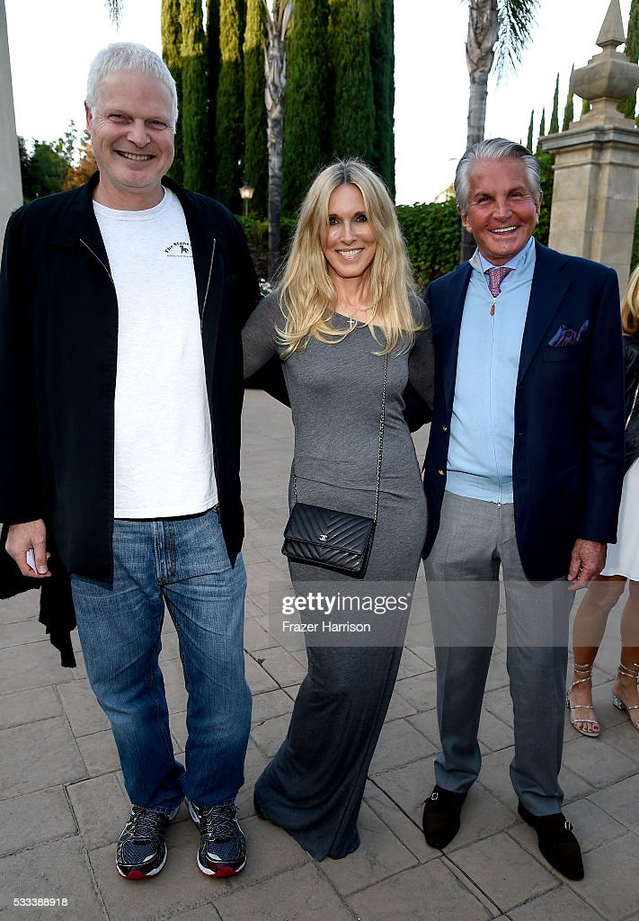 Steve Bing, actors Alana Stewart and George Hamilton attend The Heart Foundation 20th Anniversary Event honoring Discovery Land Company's Mike Meldman at the Green Acres Estate on May 21, 2016 in Beverly Hills, California.