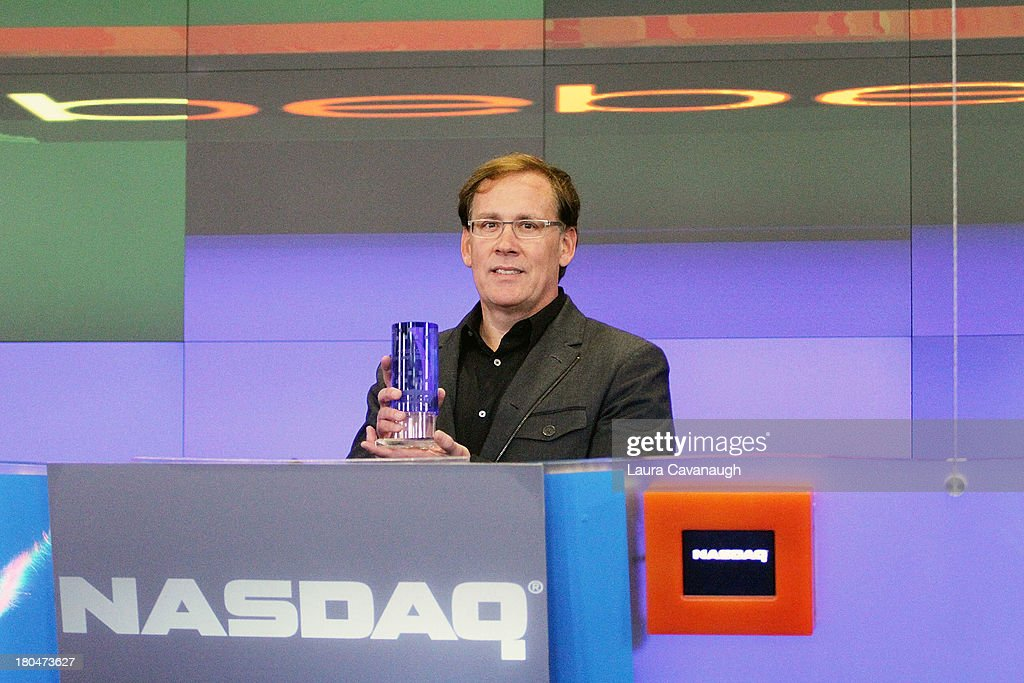Steve Birkhold, CEO of Bebe Stores, Inc. rings the opening bell at NASDAQ MarketSite on September 13, 2013 in New York City.