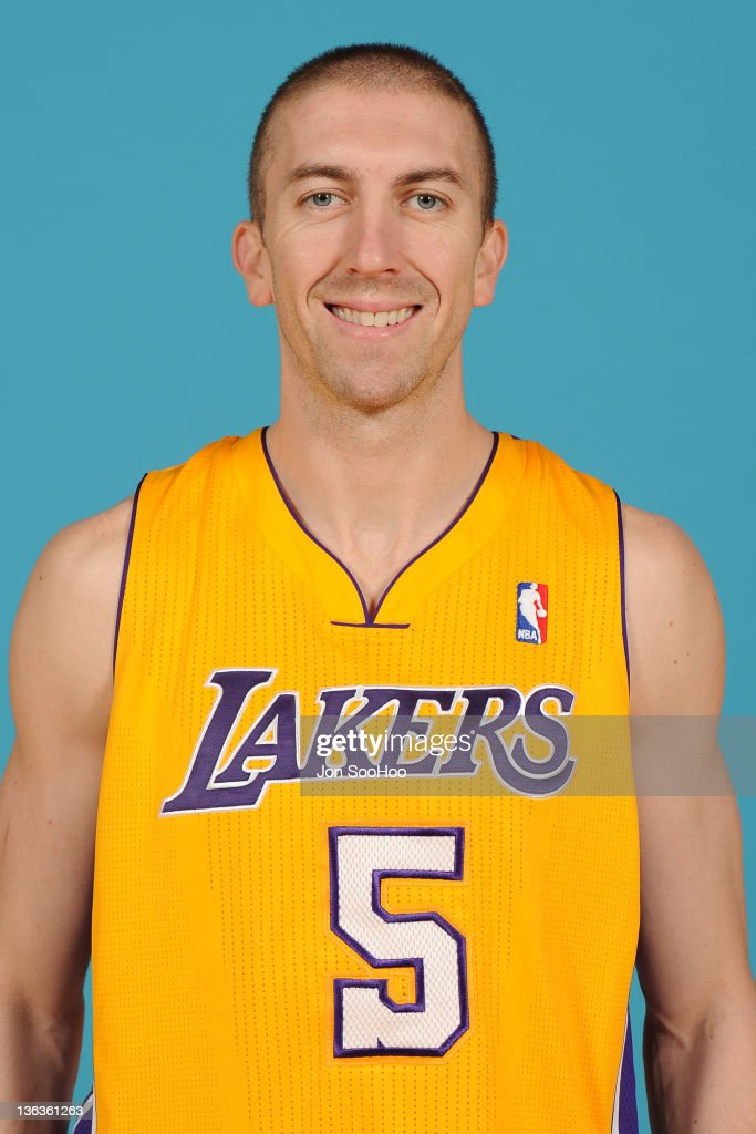 Steve Blake of the Los Angeles Lakers poses for a photo during Media Day at Toyota Sports Center on December 11 2011 in El Segundo California NOTE TO...