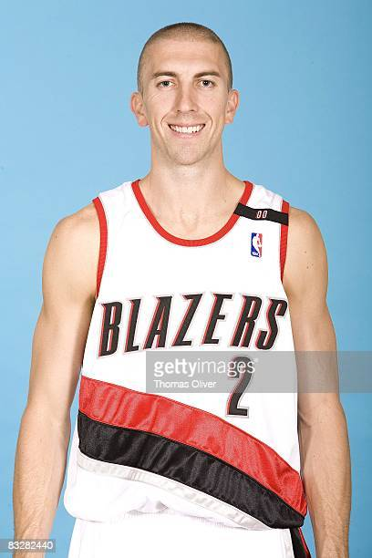 Steve Blake of the Portland Trail Blazers poses for a portrait during NBA Media Day on September 29 2008 at the Rose Garden in Portland Oregon NOTE...