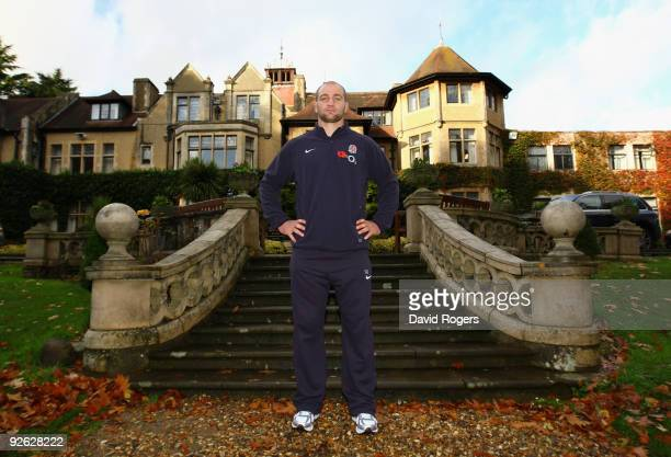 Steve Borthwick the England captain poses after the England press conference held at the Frimley Hall Hotel on November 3 2009 in Camberley England