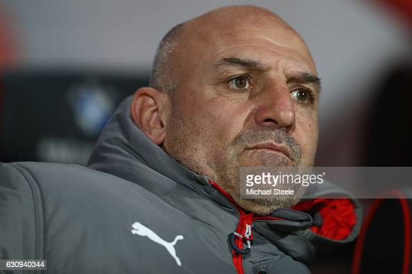 Steve Bould the assistant coach of Arsenal looks on during the Premier League match between AFC Bournemouth and Arsenal at the Vitality Stadium on...