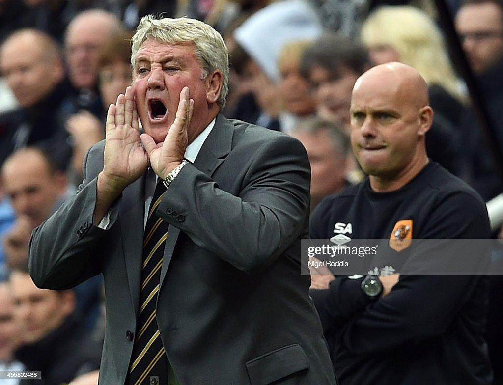 Steve Bruce manager of Hull City during Premier League Football match between Newcastle United and Hull City at St James' Park on September 20, 2014 in Newcastle upon Tyne, England.