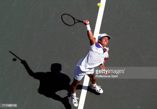 Steve Bryan of the USA in action during the US Open Tennis Championships in New York circa August 1994 Bryan was defeated in the second round by...