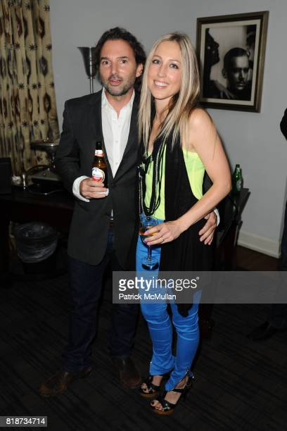 Steve Burtch and Alyssa Price attend Bret Easton Ellis to celebrate the publication of his new novel IMPERIAL BEDROOMS at Penthouse on June 10 2010...