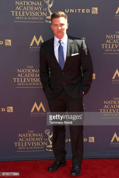 Steve Burton attends the 44th Annual Daytime Emmy Awards at Pasadena Civic Auditorium on April 30 2017 in Pasadena California