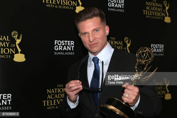 Steve Burton attends the 44th Daytime Emmy Awards with Foster Grant on April 30 2017 in Los Angeles California