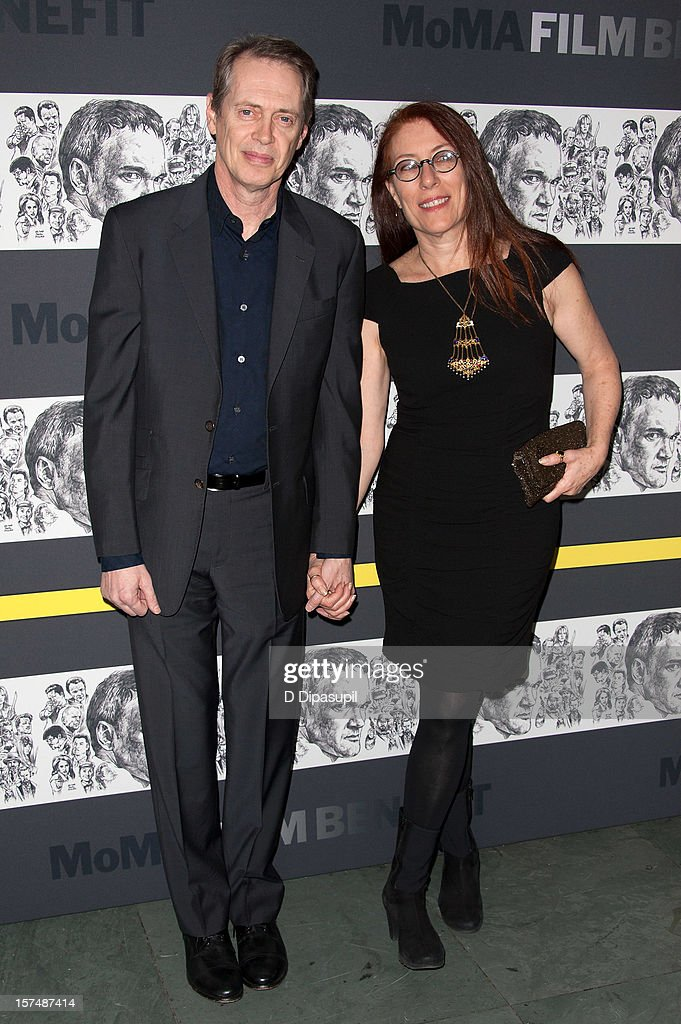 Steve Buscemi (L) and Jo Andres attend the Museum of Modern Art film benefit honoring Quentin Tarantino on December 3, 2012 in New York City.