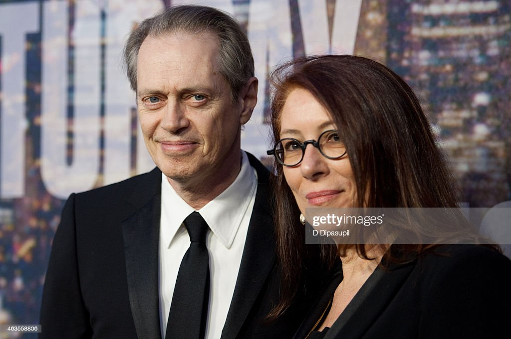 Steve Buscemi (L) and Jo Andres attend the SNL 40th Anniversary Celebration at Rockefeller Plaza on February 15, 2015 in New York City.