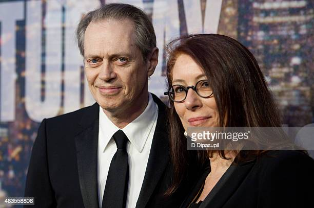 Steve Buscemi and Jo Andres attend the SNL 40th Anniversary Celebration at Rockefeller Plaza on February 15 2015 in New York City