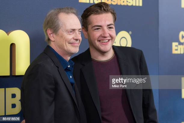 Steve Buscemi and Michael Gandolfini attend the 'Curb Your Enthusiasm' season 9 premiere at SVA Theater on September 27 2017 in New York City