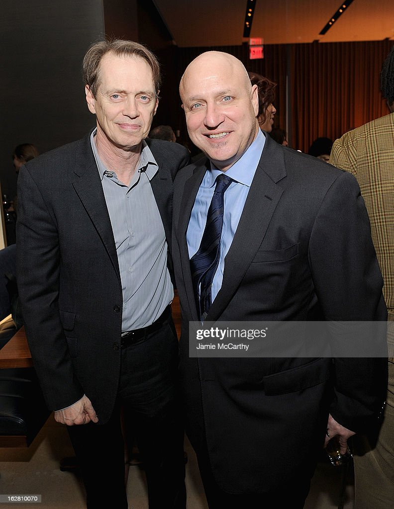<a gi-track='captionPersonalityLinkClicked' href=/galleries/search?phrase=Steve+Buscemi&family=editorial&specificpeople=207107 ng-click='$event.stopPropagation()'>Steve Buscemi</a> and <a gi-track='captionPersonalityLinkClicked' href=/galleries/search?phrase=Tom+Colicchio&family=editorial&specificpeople=4167072 ng-click='$event.stopPropagation()'>Tom Colicchio</a> attend the Bank Of America And Food & Wine With The Cinema Society Screening Of 'A Place At The Table' After Party at Riverpark on February 27, 2013 in New York City.