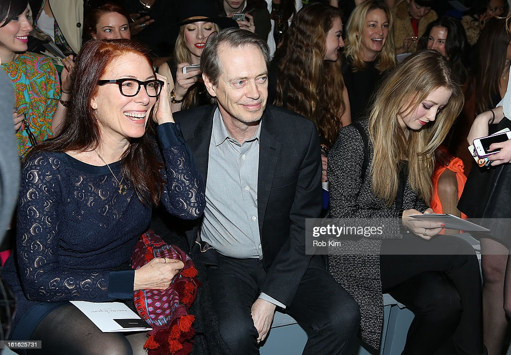 <a gi-track='captionPersonalityLinkClicked' href=/galleries/search?phrase=Steve+Buscemi&family=editorial&specificpeople=207107 ng-click='$event.stopPropagation()'>Steve Buscemi</a> and wife <a gi-track='captionPersonalityLinkClicked' href=/galleries/search?phrase=Jo+Andres&family=editorial&specificpeople=702098 ng-click='$event.stopPropagation()'>Jo Andres</a> attend Nanette Lepore during Fall 2013 Mercedes-Benz Fashion Week at The Stage at Lincoln Center on February 13, 2013 in New York City.