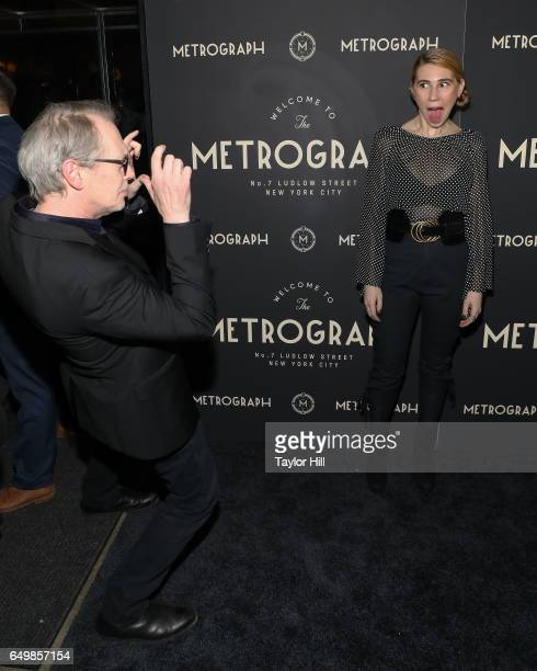 Steve Buscemi and Zosia Mamet attend the Metrograph oneyearanniversary party at Metrograph on March 8 2017 in New York City