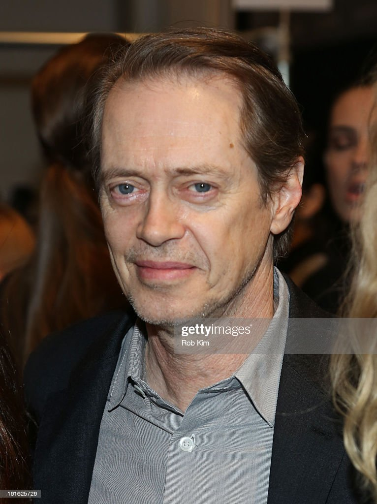 <a gi-track='captionPersonalityLinkClicked' href=/galleries/search?phrase=Steve+Buscemi&family=editorial&specificpeople=207107 ng-click='$event.stopPropagation()'>Steve Buscemi</a> attends Nanette Lepore during Fall 2013 Mercedes-Benz Fashion Week at The Stage at Lincoln Center on February 13, 2013 in New York City.