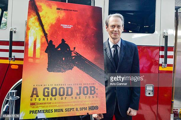 Steve Buscemi poses for photographers during the 'A Good Job Stories Of THe FDNY' New York Premiere at Sunshine Landmark on September 4 2014 in New...