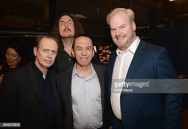 Steve Buscemi 'Weird Al' Yankovic Gilbert Gottfreid and Jim Gaffigan attend Comedy Central Night Of Too Many Stars at Beacon Theatre on February 28...