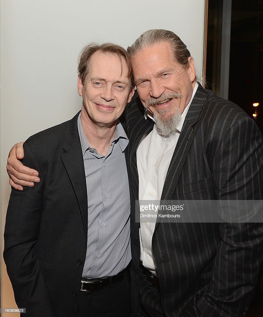 Steve Buschemi and Jeff Bridges attend the Bank of America and Food Wine with The Cinema Society screening of 'A Place at the Table' after party at...