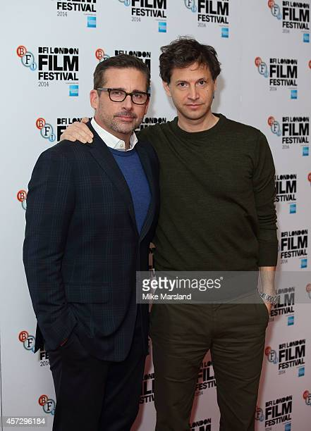 Steve Carell and Bennett Miller attend a photocall for 'Foxcatcher' during the 58th BFI London Film Festival at Corinthia Hotel London on October 16...