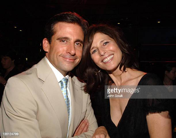 Steve Carell and Catherine Keener during 'The 40YearOld Virgin' Los Angeles Premiere After Party at Archlight in Los Angeles California United States