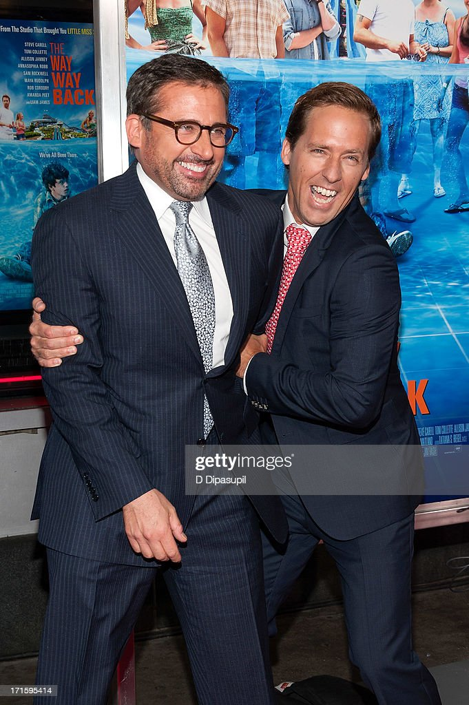 <a gi-track='captionPersonalityLinkClicked' href=/galleries/search?phrase=Steve+Carell&family=editorial&specificpeople=595491 ng-click='$event.stopPropagation()'>Steve Carell</a> (L) and <a gi-track='captionPersonalityLinkClicked' href=/galleries/search?phrase=Nat+Faxon&family=editorial&specificpeople=734812 ng-click='$event.stopPropagation()'>Nat Faxon</a> attend 'The Way, Way Back' premiere at AMC Loews Lincoln Square on June 26, 2013 in New York City.
