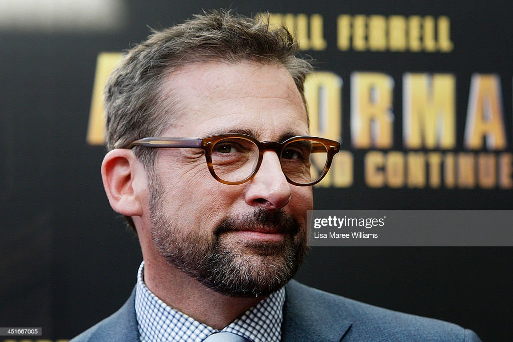 <a gi-track='captionPersonalityLinkClicked' href=/galleries/search?phrase=Steve+Carell&family=editorial&specificpeople=595491 ng-click='$event.stopPropagation()'>Steve Carell</a> arrives at the 'Anchorman 2: The Legend Continues' Australian premiere at The Entertainment Quarter on November 24, 2013 in Sydney, Australia.