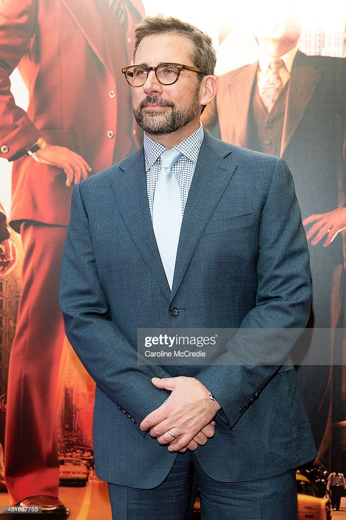 <a gi-track='captionPersonalityLinkClicked' href=/galleries/search?phrase=Steve+Carell&family=editorial&specificpeople=595491 ng-click='$event.stopPropagation()'>Steve Carell</a> arrives at the 'Anchorman 2: The Legend Continues' Australian premiere on November 24, 2013 in Sydney, Australia.