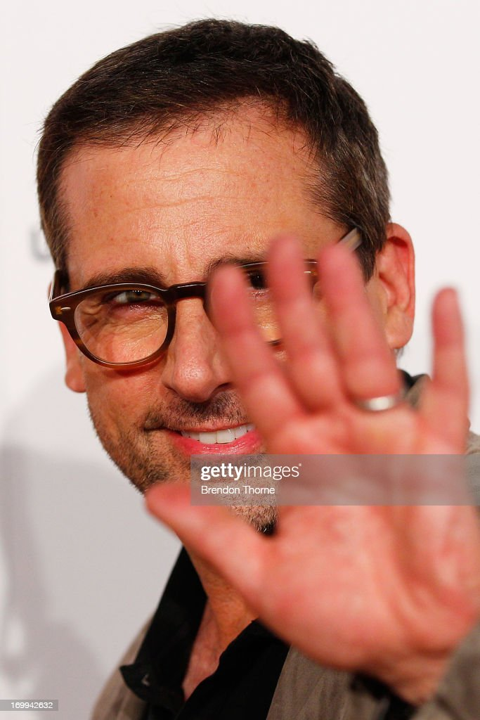 <a gi-track='captionPersonalityLinkClicked' href=/galleries/search?phrase=Steve+Carell&family=editorial&specificpeople=595491 ng-click='$event.stopPropagation()'>Steve Carell</a> arrives at the 'Despicable Me 2' Australian premiere at Event Cinemas Bondi Junction on June 5, 2013 in Sydney, Australia.