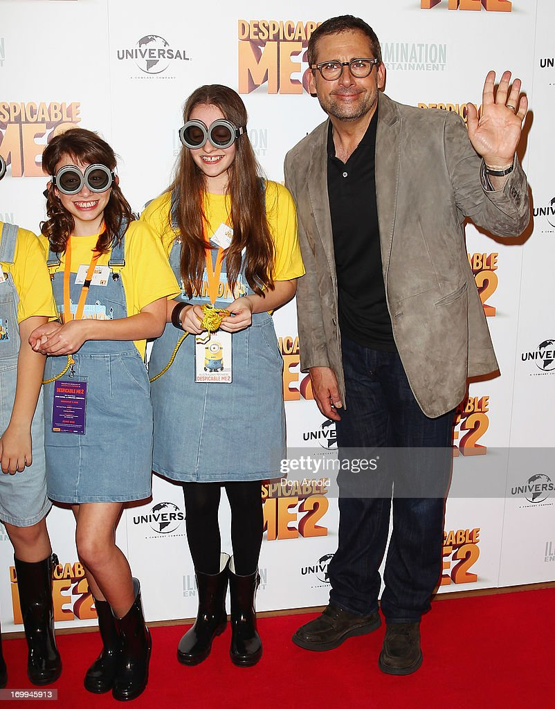 <a gi-track='captionPersonalityLinkClicked' href=/galleries/search?phrase=Steve+Carell&family=editorial&specificpeople=595491 ng-click='$event.stopPropagation()'>Steve Carell</a> arrives at the 'Despicable Me 2' Australian premiere on June 5, 2013 in Sydney, Australia.