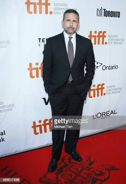 Steve Carell arrives at the premiere of Foxcatcher held during the 2014 Toronto International Film Festival Day 5 on September 8 2014 in Toronto...