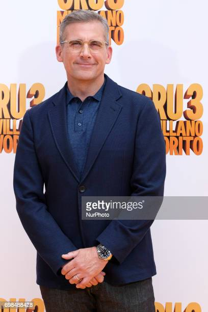 Steve Carell attends 'Despicable Me 3' photocall at Santo Mauro Hotel on June 20 2017 in Madrid Spain