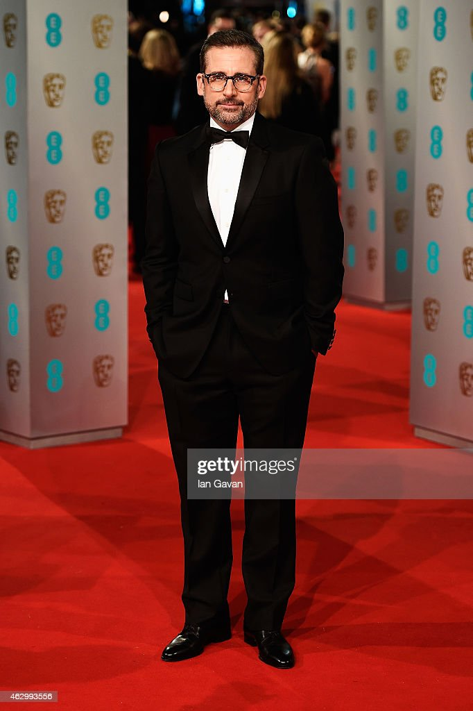 <a gi-track='captionPersonalityLinkClicked' href=/galleries/search?phrase=Steve+Carell&family=editorial&specificpeople=595491 ng-click='$event.stopPropagation()'>Steve Carell</a> attends the EE British Academy Film Awards at The Royal Opera House on February 8, 2015 in London, England.