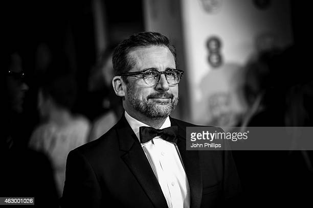 Steve Carell attends the EE British Academy Film Awards at The Royal Opera House on February 8 2015 in London England