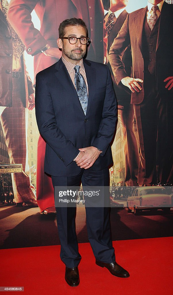 <a gi-track='captionPersonalityLinkClicked' href=/galleries/search?phrase=Steve+Carell&family=editorial&specificpeople=595491 ng-click='$event.stopPropagation()'>Steve Carell</a> attends the Irish premiere of 'Anchorman 2: The Legend Continues' on December 9, 2013 in Dublin, Ireland.