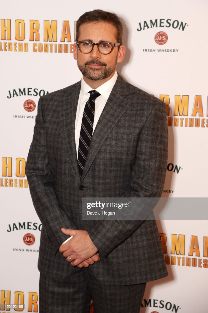 <a gi-track='captionPersonalityLinkClicked' href=/galleries/search?phrase=Steve+Carell&family=editorial&specificpeople=595491 ng-click='$event.stopPropagation()'>Steve Carell</a> attends the UK premiere of 'Anchorman 2: The Legend Continues' at The Vue West End on December 11, 2013 in London, England.