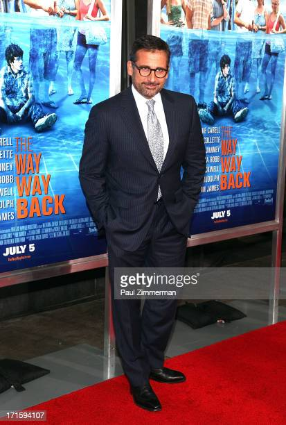 Steve Carell attends 'The Way Way Back ' New York Premiere at AMC Loews Lincoln Square on June 26 2013 in New York City